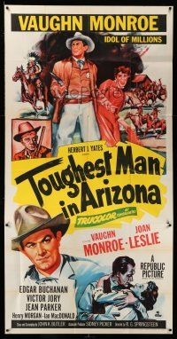 1r964 TOUGHEST MAN IN ARIZONA 3sh '52 art of Vaughn Monroe, Idol of Millions & Joan Leslie!