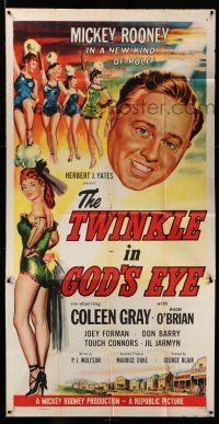 1r967 TWINKLE IN GOD'S EYE 3sh '55 art of Mickey Rooney, sexy Coleen Gray & 4 chorus girls!