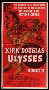 1r969 ULYSSES 3sh R60 cool different art of Kirk Douglas & sexy Silvana Mangano!