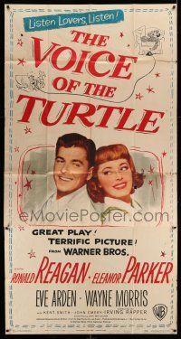 1r979 VOICE OF THE TURTLE 3sh '48 c/u of smiling Ronald Reagan & Eleanor Parker back-to-back!