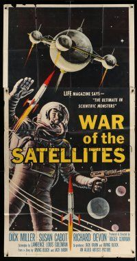 1r983 WAR OF THE SATELLITES 3sh '58 the ultimate in scientific monsters, cool astronaut art!