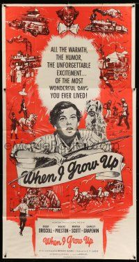 1r988 WHEN I GROW UP 3sh '51 Bobby Driscoll, Robert Preston, great montage art!