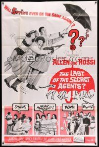 1r019 LAST OF THE SECRET AGENTS 40x60 '66 Marty Allen & Steve Rossi tied up, Marty says Hello dere!
