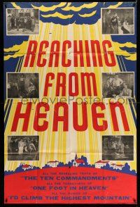 1r020 REACHING FROM HEAVEN 40x60 R50s Hugh Beaumont, Heaven or Hell, the choice is yours!