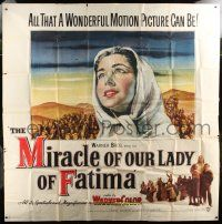 1r152 MIRACLE OF OUR LADY OF FATIMA 6sh '52 all that a wonderful motion picture can be!