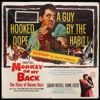 1r155 MONKEY ON MY BACK 6sh '57 Cameron Mitchell chooses a woman over dope and kicks the habit!