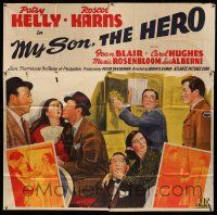 1r157 MY SON, THE HERO 6sh '43 Edgar Ulmer screwball rip-off of Lady For a Day, stone litho!