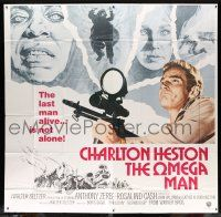 1r158 OMEGA MAN int'l 6sh '71 Charlton Heston is the last man alive & he's not alone, I Am Legend!