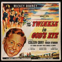 1r205 TWINKLE IN GOD'S EYE 6sh '55 art of Mickey Rooney, sexy Coleen Gray & chorus girls!