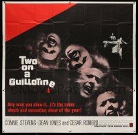 1r206 TWO ON A GUILLOTINE 6sh '65 7 days in a house of terror, or the unkindest cut of all!
