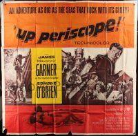 1r208 UP PERISCOPE 6sh '59 scuba diver James Garner, Edmond O'Brien, adventure as big as the seas!