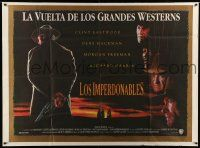 1r223 UNFORGIVEN Argentinean 42x56 '92 Clint Eastwood, Gene Hackman, Freeman, Richard Harris!