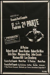 1r301 GODFATHER PART II Argentinean '74 Al Pacino in Francis Ford Coppola classic crime sequel!