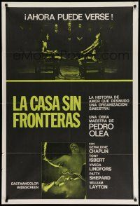 1r313 HOUSE WITHOUT FRONTIERS Argentinean '72 wild image of naked Chaplin & Isbert bound to chairs!