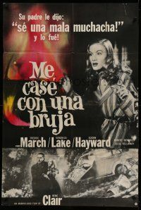 1r315 I MARRIED A WITCH Argentinean R70s different images of sexy Veronica Lake & Fredric March!