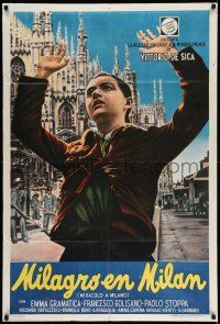 1r356 MIRACLE IN MILAN Argentinean '51 Vittorio De Sica's Miracolo a Milano, orphan saves a town!