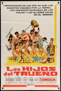 1r362 MY SON, THE HERO Argentinean '63 Arrivano I Titani, great sword & sandal artwork!