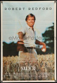 1r364 NATURAL Argentinean '84 best image of Robert Redford throwing baseball, Barry Levinson!