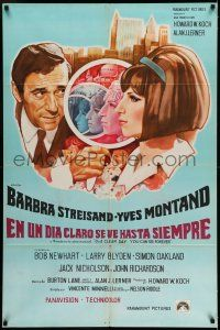 1r368 ON A CLEAR DAY YOU CAN SEE FOREVER Argentinean '70 different art of Streisand & Montand!