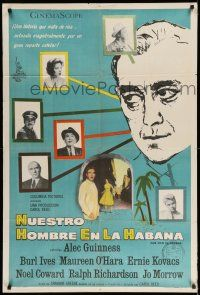 1r370 OUR MAN IN HAVANA Argentinean '60 art of Alec Guinness in Cuba, directed by Carol Reed!