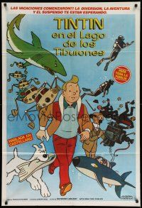 1r406 TINTIN & THE LAKE OF SHARKS Argentinean '73 Belgian cartoon character created by Herge!