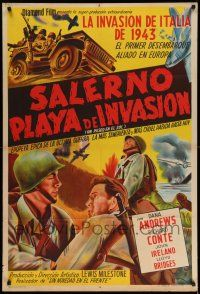 1r414 WALK IN THE SUN Argentinean '45 art of World War II soldiers Dana Andrews & Richard Conte!