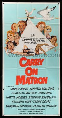 1r005 CARRY ON MATRON English 3sh '72 English sex, wacky cast montage art by Arnaldo Putzu!
