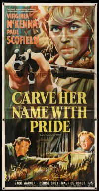 1r006 CARVE HER NAME WITH PRIDE English 3sh '58 Pezuldure art of WWII hero Virginia McKenna!