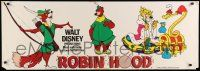 1r010 ROBIN HOOD English 17x48 paper banner '73 Walt Disney's cartoon version!