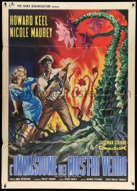 1r489 DAY OF THE TRIFFIDS Italian 1p '63 classic English sci-fi horror, different monster art!