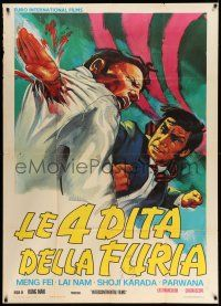 1r536 HANDS OF DEATH Italian 1p '73 gruesome kung fu art of guy punching through man's chest!