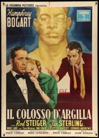 1r538 HARDER THEY FALL Italian 1p '58 Ciriello art of Bogart, Steiger, Sterling & boxer Mike Lane!
