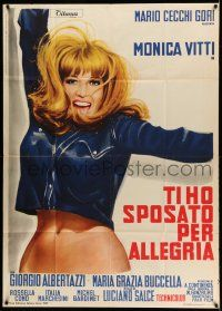 1r549 I MARRIED YOU FOR FUN Italian 1p '67 art of sexy Monica Vitti showing her bare midriff!