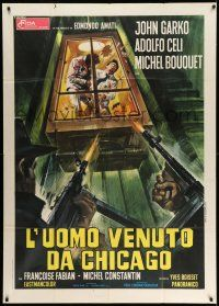 1r604 NIGHT OF THE EXECUTIONERS Italian 1p '73 Yves Boisset's Un conde, different art by Casaro!