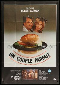 1r616 PERFECT COUPLE Italian/French 1p '79 Robert Altman, different image of vinyl record hamburger