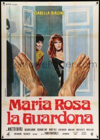1r699 WHAT THE CHAMBERMAID SAW Italian 1p '74 Maria Rosa la guardona, art of sexy Isabella Biagini!