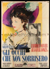 1r045 CARRIE Italian 2p '52 different Ercole Brini art of beautiful Jennifer Jones, William Wyler!