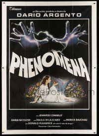 1r049 CREEPERS Italian 2p '85 Dario Argento's Phenomena, best art of Jennifer Connelly by Sciotti!