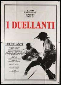 1r053 DUELLISTS Italian 2p '77 Ridley Scott, Keith Carradine, Harvey Keitel, cool fencing image!