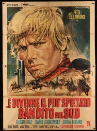 1r056 FEW BULLETS MORE Italian 2p '67 Peter Lee Lawrence, spaghetti western art by Gasparri!