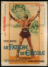 1r064 HERCULES Italian 2p '59 Giuliano Nistri art of the world's mightiest man Steve Reeves!