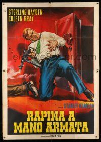 1r070 KILLING Italian 2p R64 Stanley Kubrick classic film noir, Casaro art of Hayden shot by safe!