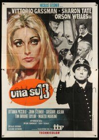 1r097 TWELVE CHAIRS Italian 2p '69 Sharon Tate, Orson Welles, De Sica, pre-Mel Brooks version!