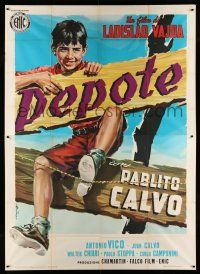 1r098 UNCLE HYACINTH Italian 2p '59 Angelo Cesselon art of young Pablito Calvo as Pepote!