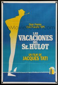 1r358 MR. HULOT'S HOLIDAY Argentinean R79 Pierre Etaix silhouette art of Jacques Tati!