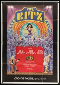 1r017 RITZ stage play 41x57 stage poster '75 Weston, Morena, Abraham, Stiller, Page Wood art!