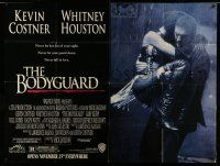 1r022 BODYGUARD subway poster '92 full image of Kevin Costner carrying Whitney Houston!