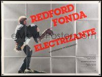 1r026 ELECTRIC HORSEMAN Spanish/U.S. subway poster '79 Sydney Pollack, Robert Redford & Jane Fonda!