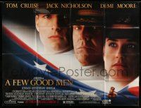 1r027 FEW GOOD MEN subway poster '92 best image of Tom Cruise, Jack Nicholson & Demi Moore!