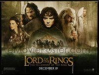 1r029 LORD OF THE RINGS: THE FELLOWSHIP OF THE RING subway poster '01 J.R.R. Tolkien, cast montage!
